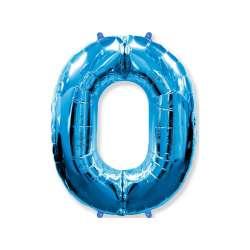 """Цифра фольгированная, 102 см  (синий) """"0"""""""