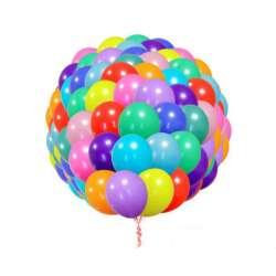 """Облако из шаров без рисунка Ассорти. Пастель. 100 шт. 30 см (12"""")"""