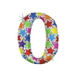 """Цифра фольгированная. 102 см  (дизайнерская) """"0"""""""