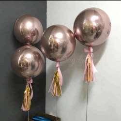 Сфера 3D Розовое золото 51 см