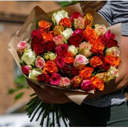 """Букет из 51 розы № 37 """"Микс"""""""