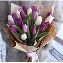 Букет из 21 тюльпанов № 48