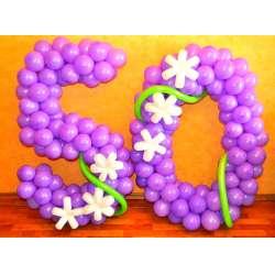 Цифра с цветами 5