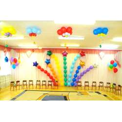 Оформление детского зала № 17