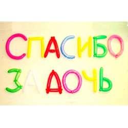 Буквы и цифры из шаров для моделирования
