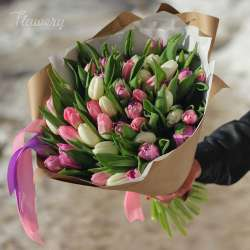Букет из 31 тюльпана № 50