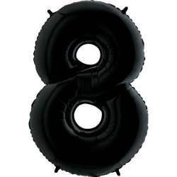 """Цифра фольгированная, 102 см  (черный) """"8"""""""