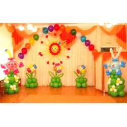 Оформление детского зала № 25
