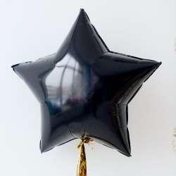 Звезда большая 78 см (Черный)