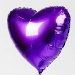 Сердце большое 78 см (Фиолетовый)