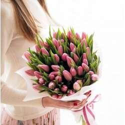 Букет из 51 тюльпана № 51