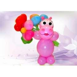 Бегемотик - девочка с цветами