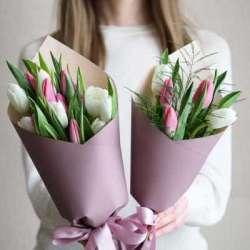 Букет из 5 тюльпанов № 43