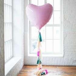 Сердце большое 78 см (Розовый нежный)