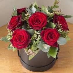 Композиция цветов в коробочке № 4