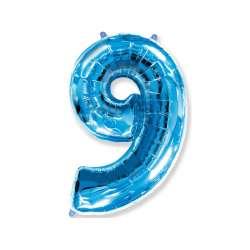"""Цифра фольгированная, 102 см  (синий) """"9"""""""