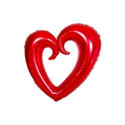 Сердце Вензель (красный) 102 см