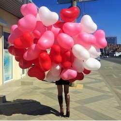 """Облако шаров № 17 """"Влюбленное"""" 35 штук"""