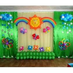 Оформление детского зала № 48