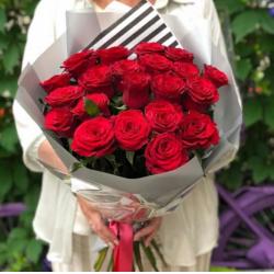 Букет из 21 розы № 28