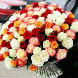 """Букет из 101 розы № 39 """"Микс"""""""