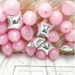 """Шары под потолок. """"Нежный розовый"""""""