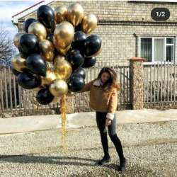 """Облако шаров № 26 """"Золотое"""" 35 штук"""