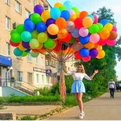 """Облако шаров № 20 """"Разноцветное"""" 95 штук"""