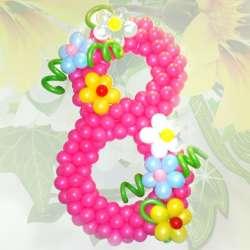 Цифра с цветами 2