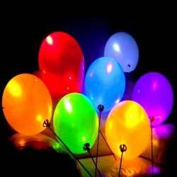 Светящийся воздушный шар на палочке (без рисунка)