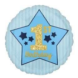 "Круг ""Happy Birthday. 1-й ДР Мальчик"""