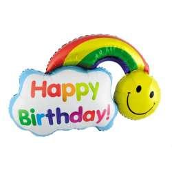 """С днем рождения """"Смайл  с радугой"""""""