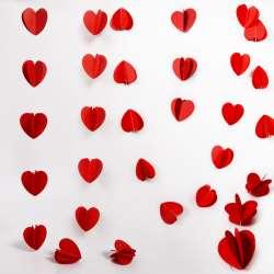 """Подвеска """"Сердца"""" Красный"""