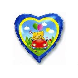 """Сердце """"Влюбленные мишки в машине"""""""