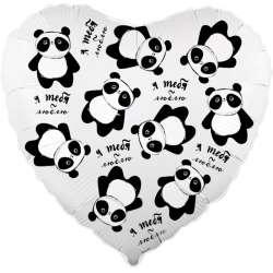"""Сердце """"Панда в невесомости"""""""