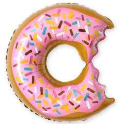 """Пончик, """"Надкусанный"""" розовый"""