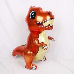 Ходячая фигура Маленький динозавр. Оранжевый 76 см