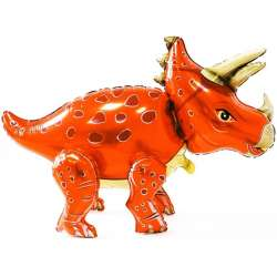 Ходячая Фигура, Динозавр Трицератопс, Оранжевый 91 см