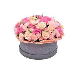 Композиция цветов в коробочке № 3