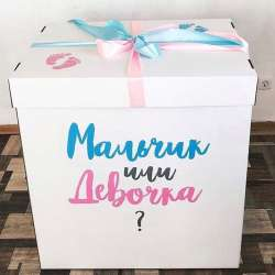 Коробка на определение пола ребенка № 17