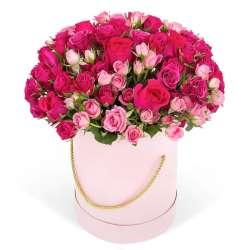 Композиция цветов в коробочке № 2
