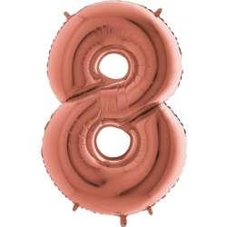 """Цифра фольгированная, 102 см  (розовое золото) """"8"""""""