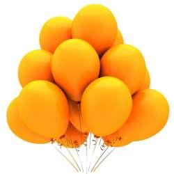 """Облако из шаров. Композиция """"Оранжевое настроение"""""""