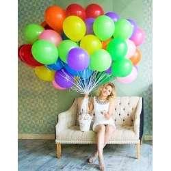 """Облако шаров № 19 """"Разноцветное"""" 35 штук"""