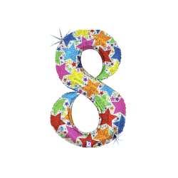 """Цифра фольгированная. 102 см  (дизайнерская) """"8"""""""