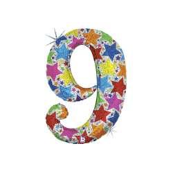 """Цифра фольгированная. 102 см  (дизайнерская) """"9"""""""